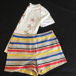 J. Crew Shorts - J. Crew Tan Horizontal Striped Textured Shorts